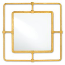 Metro Gold Square Mirror