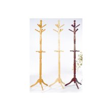 Natural Finish Hall Tree and Umbrella Rack