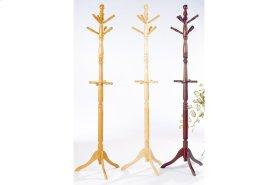 Oak Finish Hall Tree and Umbrella Rack