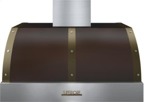 Hood DECO 36'' Brown matte, Bronze 1 blower, electronic buttons control, baffle filters