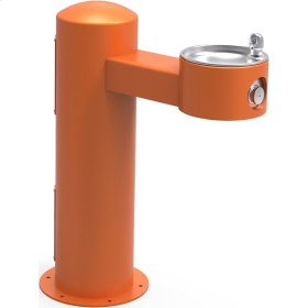 Elkay Outdoor Fountain Pedestal Non-Filtered Non-Refrigerated, Orange
