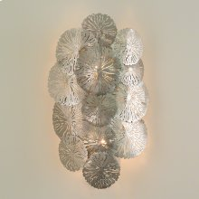 Lily Pad Wall Sconce-Antique Nickel