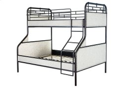 3021 Wesson White Twin/Full Bunk Bed with Guard Rails and Ladder