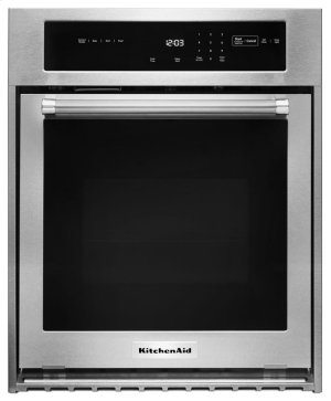 """24"""" Single Wall Oven with True Convection - Stainless Steel Product Image"""