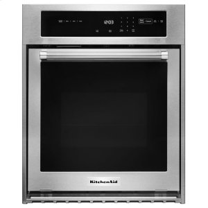 "KITCHENAID24"" Single Wall Oven with True Convection - Stainless Steel"