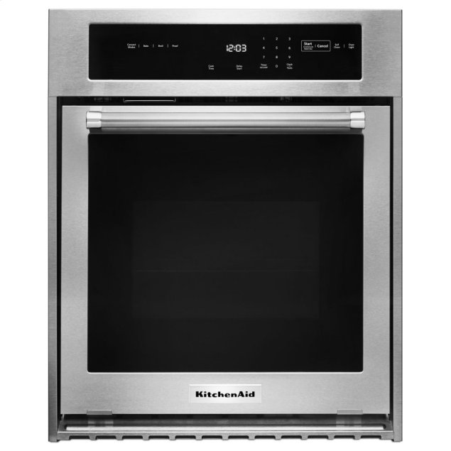 """KitchenAid 24"""" Single Wall Oven with True Convection - Stainless Steel"""