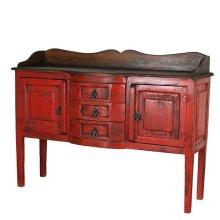 Red/Walnut Henriette Sideboard