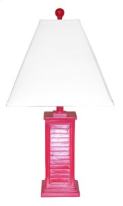 PR150-RD Shutter Table Lamp Product Image