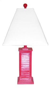 PR150-RD Shutter Table Lamp