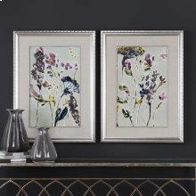 Parchment Flower Field Framed Prints, S/2