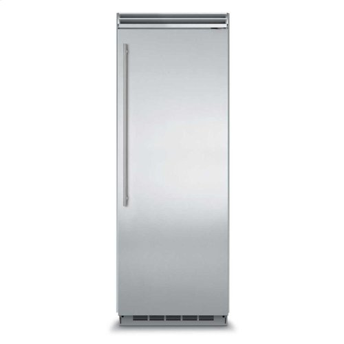 "Professional Built-In 30"" All Refrigerator - Solid Stainless Steel Door - Left Hinge, Slim Designer Handle"