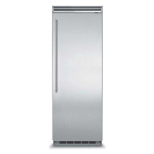 "Professional Built-In 30"" All Refrigerator - Solid Stainless Steel Door - Right Hinge, Slim Designer Handle"