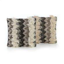 Square Style Multi Fringe Pillow, Set of 2