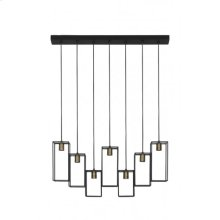 Hanging lamp 7L 84x15x130 cm MARLEY matt black
