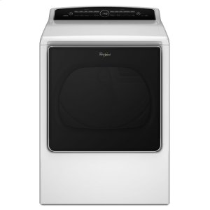 8.8 cu.ft Top Load HE Electric Dryer with Intuitive Touch Controls, Steam Refresh - WHITE