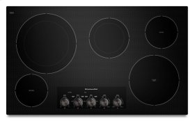 36-Inch, 5-Element Electric Cooktop with Even-Heat Technology - Black