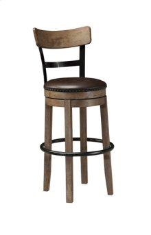 "Tall UPH Swivel Barstool 30""- Pinnadel Grayish Brown Collection"