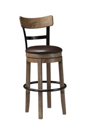 "Tall UPH Swivel Barstool 30""- Pinnadel Grayish Brown Collection"