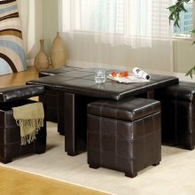 Ceres Cocktail Table W/ Ottomans
