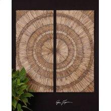 Lanciano Wood Wall Panels, S/2
