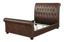 Headboard-footboard-rails-slats 6/6 King Brown Pu