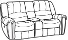 New Town Fabric Power Reclining Loveseat with Console Product Image