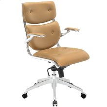 Push Mid Back Office Chair in Tan