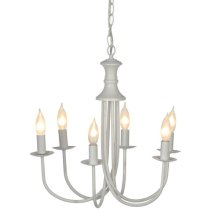 Small White Bell Chandelier. 25W Max.