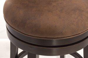 Edenwood Swivel Counter Stool - Chocolate & Chestnut