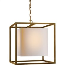 Visual Comfort SC5160HAB Eric Cohler Caged 2 Light 22 inch Hand-Rubbed Antique Brass Foyer Pendant Ceiling Light