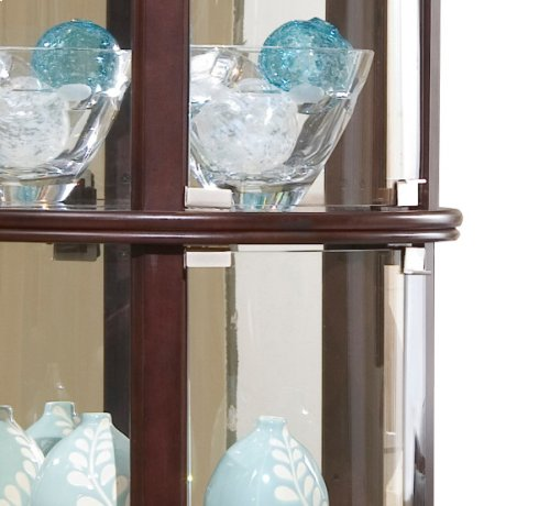 Chocolate Cherry Half Round Mirrored Curio