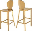 """Maddox Gold Stainless Steel Bar Stool - 15"""" W x 21"""" D x 42"""" H Product Image"""