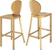 "Maddox Gold Stainless Steel Bar Stool - 15""W x 21""D x 42""H"