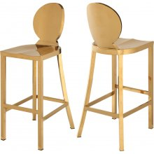 "Maddox Gold Stainless Steel Bar Stool - 15"" W x 21"" D x 42"" H"