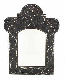 Madrid Black Vinyl Nailhead Mirror