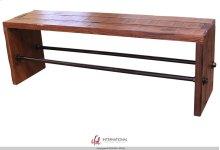 Breakfast & Bedroom Bench All wood, w/metal bar accents