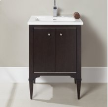 "Charlottesville w/Nickel 24"" Vanity - Door - Vintage Black"