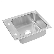 "Elkay Lustertone Classic Stainless Steel 22"" x 17"" x 7-5/8"", Single Bowl Drop-in Classroom Sink"