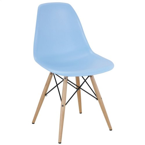 Pyramid Dining Side Chair in Light Blue
