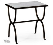glomise & Bronze Iron Rectangular Side Table