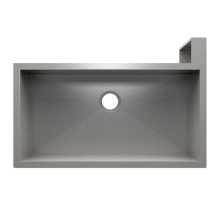 "SocialCorner 005305 - undermount with apron front stainless steel Kitchen sink , 35"" × 18"" × 10"" Right corner"