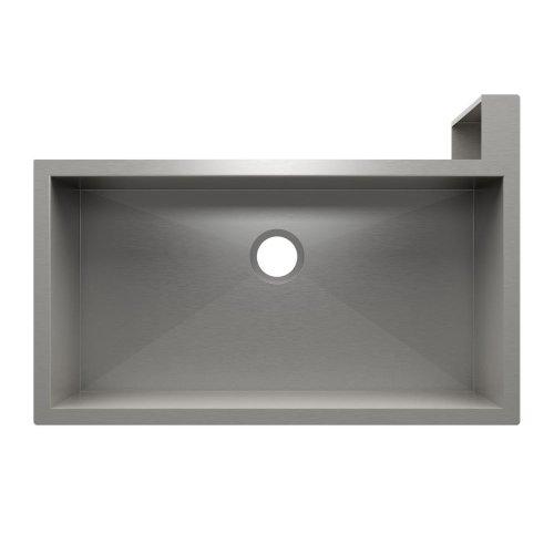 "SocialCorner 005305 - undermount with apron front stainless steel Kitchen sink , 35"" × 18"" × 10"" Right corner"