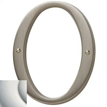 Polished Nickel with Lifetime Finish House Number - 0
