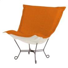 Scroll Puff Chair Sterling Canyon Titanium Frame