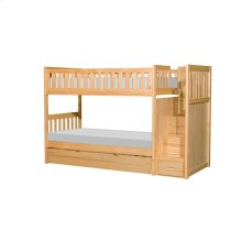 Bunk Bed with Reversible Step Storage and Twin Trundle