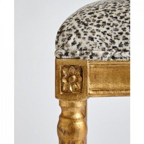 Petite Square Bench, Leopard