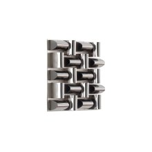 Arete Wall Tile, Stainless Steel