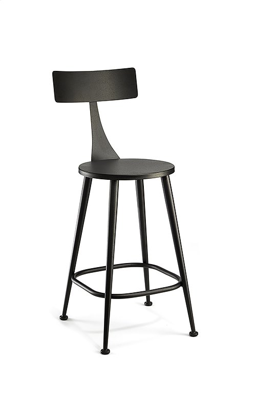 Minnoy B526H26XS Non Swivel Back Bar Stool