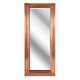 Tilde Copper Framed Rectangular Leaning Mirror