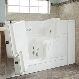 Gelcoat Premium Series 30x52 Walk-in Tub with Whirlpool Massage and Outswing Door, Left Drain  American Standard - Linen